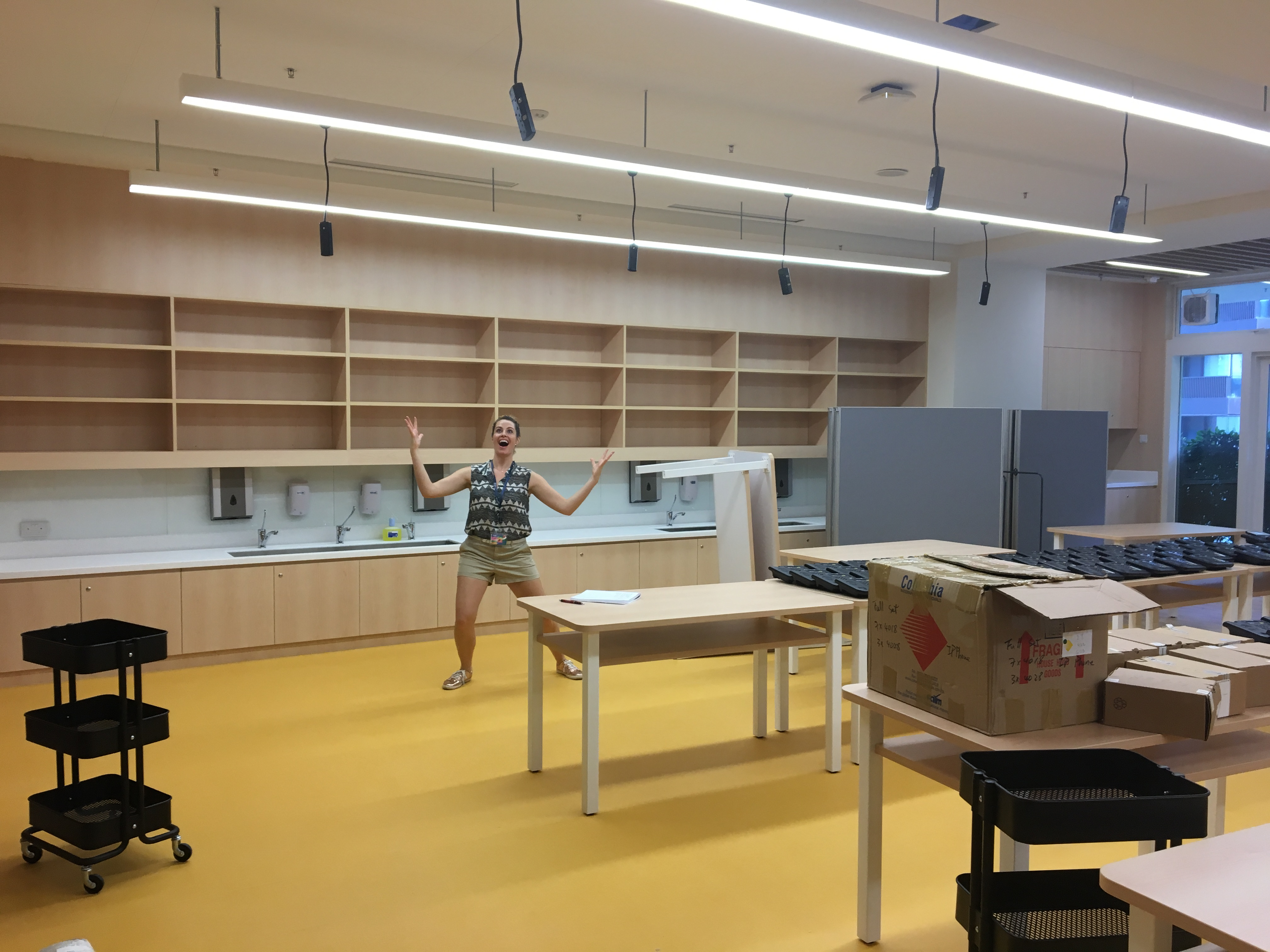 In Addition To This Amazing Space For Students, The Art Room Also Has  Amenities Just For The Teachers. From An Adult Sink And Storage Area To An  Office That ...