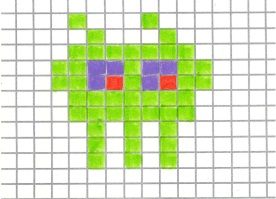 Space Invader_Light Green